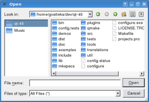QFileDialog Class Reference