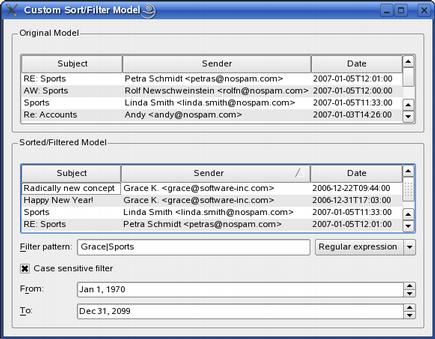 Qt 4 8: Custom Sort/Filter Model Example