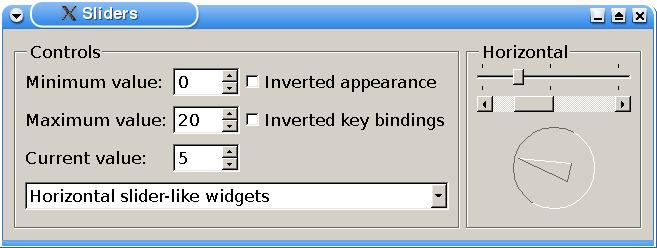 Qt 4 8: Sliders Example